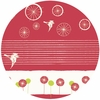Jay-Cyn Designs for Birch Fabrics Organic Avalon Take Flight Cherry