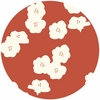 Jay-Cyn Designs for Birch Fabrics, The Grove, ORGANIC CANVAS, Poppies Paprika