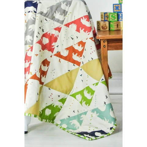 Jay-Cyn Designs for Birch Organic Fabrics, Bear Camp, Bear Bois Blue