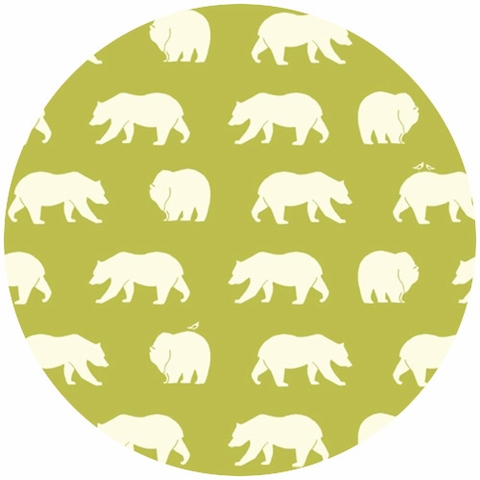 Jay-Cyn Designs for Birch Organic Fabrics, Bear Camp, Bear Hike Grass