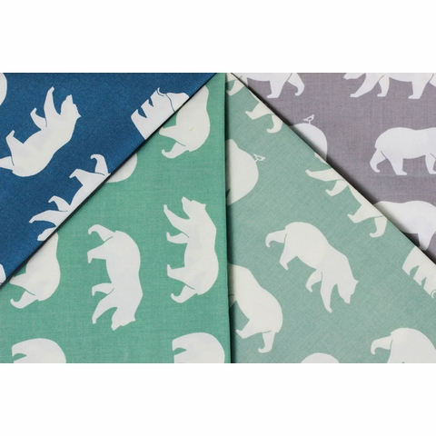 Jay-Cyn Designs for Birch Organic Fabrics, Bear Camp, Bear Hike Pool