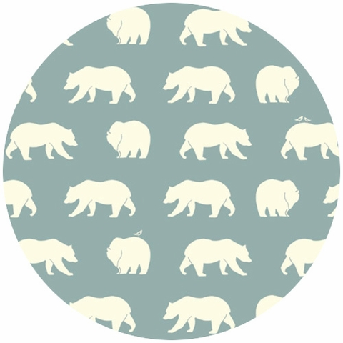 Jay-Cyn Designs for Birch Organic Fabrics, Bear Camp, KNIT, Bear Hike Mineral