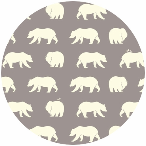 Jay-Cyn Designs for Birch Organic Fabrics, Bear Camp, KNIT, Bear Hike Shroom