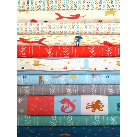Jay-Cyn Designs for Birch Organic Fabrics, Beyond the Sea 9 Total