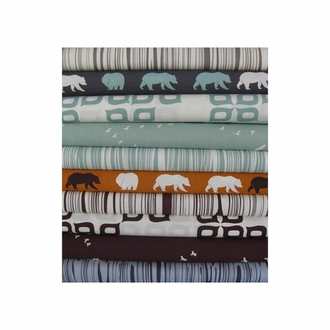 Jay-Cyn Designs for Birch Organic Fabrics, Camp Modern, Fois Bois Mahogany