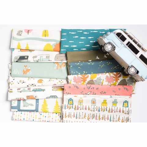 Jay-Cyn Designs for Birch Organic Fabrics, Camp Sur 3 in FAT QUARTERS 11 Total (PRECUT)