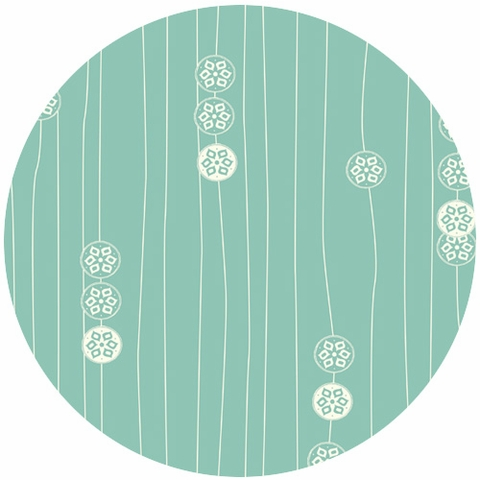 Jay-Cyn Designs for Birch Organic Fabrics, Eiko, Stamp Stripe Pool