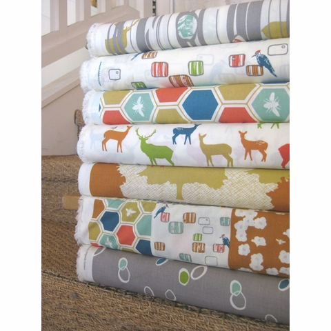 Jay-Cyn Designs for Birch Organic Fabrics, Elk Grove Cotton, Knot Dot