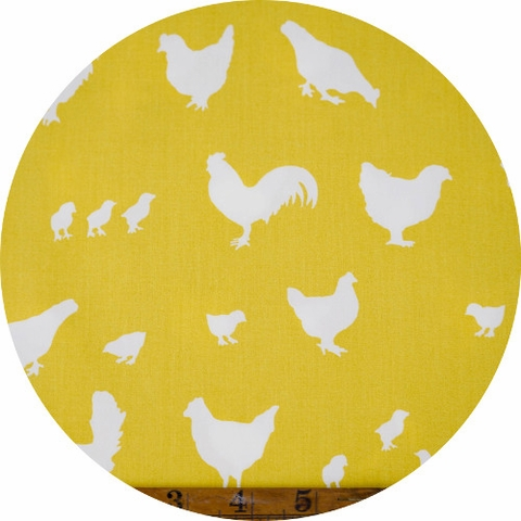 Jay-Cyn Designs for Birch Organic Fabrics, Farm Fresh, Hens and Friends Sun