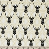 Jay-Cyn Designs for Birch Organic Fabrics, Inkwell, CANVAS, Elk Diamonds Black/Metallic