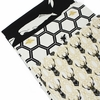 Jay-Cyn Designs for Birch Organic Fabrics, Inkwell, CANVAS, Honeycomb Black/Metallic