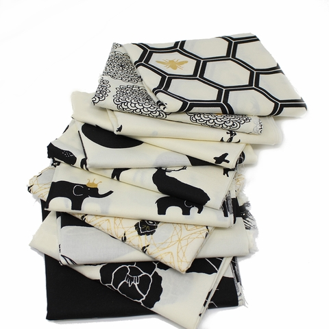 Jay-Cyn Designs for Birch Organic Fabrics, Inkwell, Flight Black/Metallic