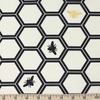 Jay-Cyn Designs for Birch Organic Fabrics, Inkwell, Honeycomb Black/Metallic