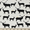 Jay-Cyn Designs for Birch Organic Fabrics, Inkwell, KNIT, Elk Fam Black/Metallic