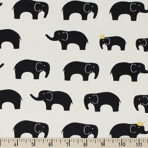 Jay-Cyn Designs for Birch Organic Fabrics, Inkwell, KNIT, Ellie Fam Black/Metallic