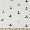 Jay-Cyn Designs for Birch Organic Fabrics, Inkwell, KNIT, Little Anchor Metallic