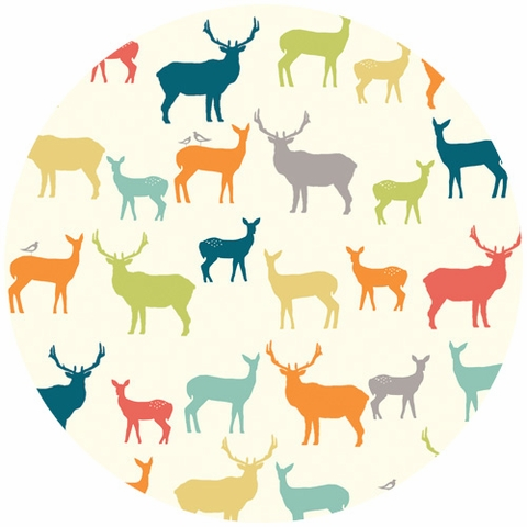 Jay-Cyn Designs for Birch Organic Fabrics, Just for Fun, Elk Fam Multi