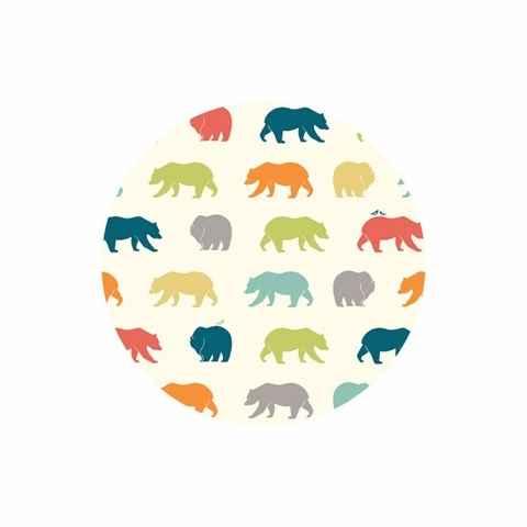 Jay-Cyn Designs for Birch Organic Fabrics, Just For Fun, KNIT, Bear Hike Multi