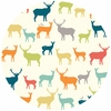 Jay-Cyn Designs for Birch Organic Fabrics, Just for Fun, KNIT, Elk Fam Multi