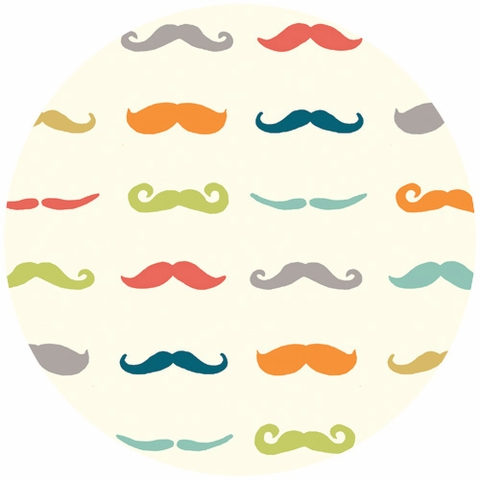 Jay-Cyn Designs for Birch Organic Fabrics, Just For Fun, Staches Multi