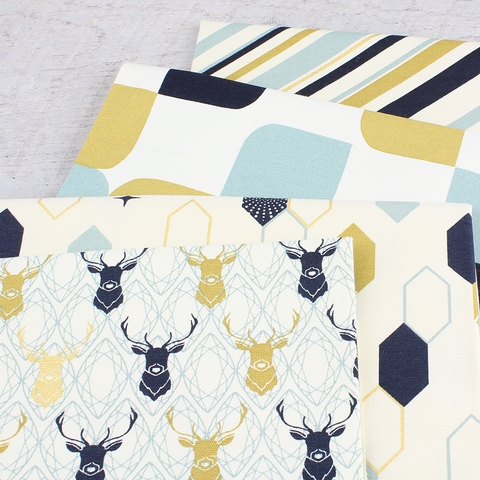 Jay-Cyn Designs for Birch Organic Fabrics, Mod Nouveau, CANVAS, Elk Diamond Metallic