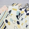 Jay-Cyn Designs for Birch Organic Fabrics, Mod Nouveau, CANVAS, Oblong Hex Mint Metallic