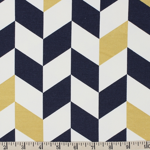 Jay-Cyn Designs for Birch Organic Fabrics, Mod Nouveau, CANVAS, Offset Navy