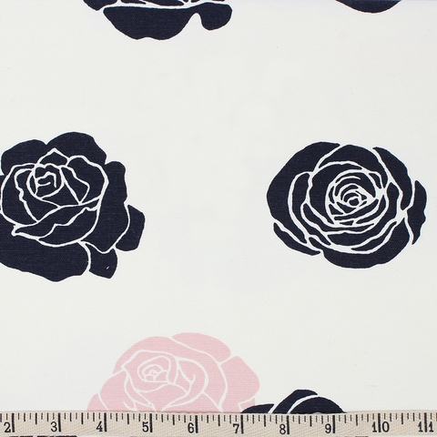 Jay-Cyn Designs for Birch Organic Fabrics, Mod Nouveau, CANVAS, Roses Blush