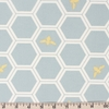 Jay-Cyn Designs for Birch Organic Fabrics, Mod Nouveau, Honeycomb Mint Metallic