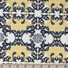 Jay-Cyn Designs for Birch Organic Fabrics, Mod Nouveau, Horned Lace Metallic