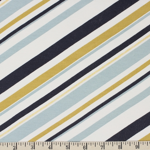 Jay-Cyn Designs for Birch Organic Fabrics, Mod Nouveau, KNIT, Stripe Mint Metallic