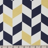 Jay-Cyn Designs for Birch Organic Fabrics, Mod Nouveau, Offset Navy