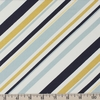 Jay-Cyn Designs for Birch Organic Fabrics, Mod Nouveau, Stripe Mint Metallic