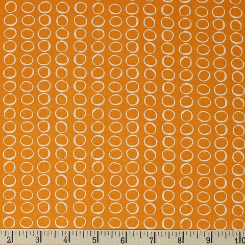 Jay-Cyn Designs for Birch Organic Fabrics, Summer '62, Bubbles Orange