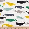 Jay-Cyn Designs for Birch Organic Fabrics, Tonoshi, Kujira Boy Fat Quarter