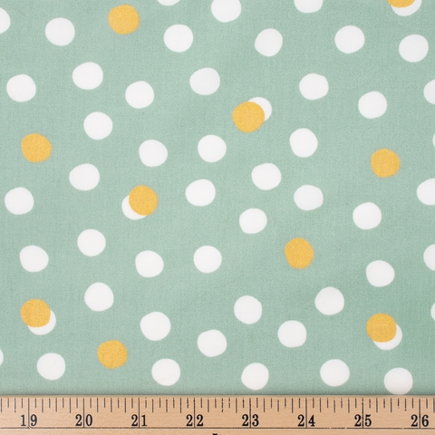 Jay-Cyn Designs for Birch Organic Fabrics, Tonoshi, Mochi Dot Mineral Metallic Gold Fat Quarter