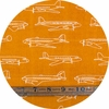 Jay-Cyn Designs for Birch Organic Fabrics, Trans-Pacific, KNIT, Planes Orange