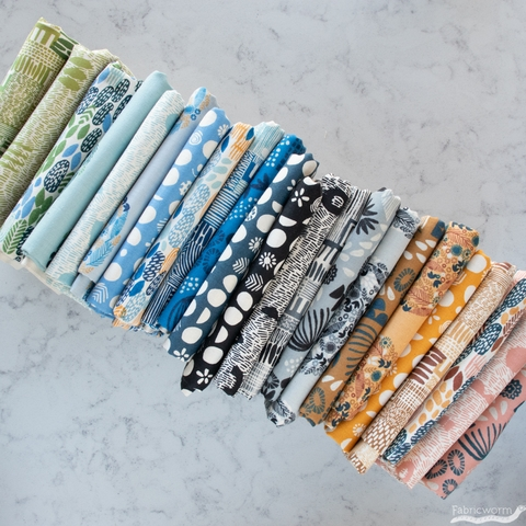 Jeanne McGee for Cotton + Steel, Homestead, Planting Evening Blue
