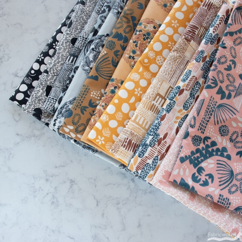 Jeanne McGee for Cotton + Steel, Homestead, Planting Peach