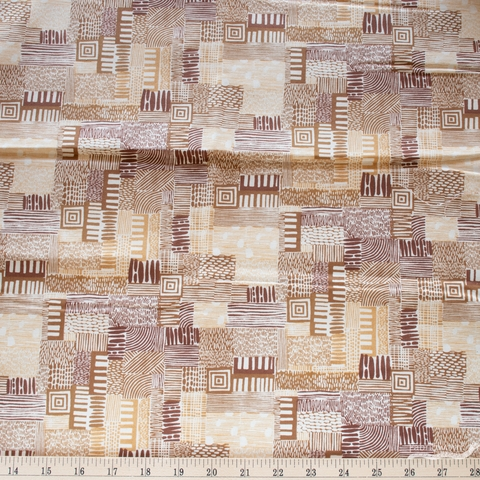Jeanne McGee for Cotton + Steel, Homestead, Plots Gold Sand