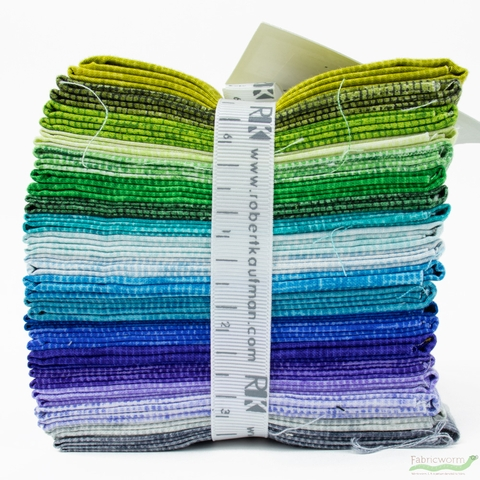 Jennifer Sampou for Robert Kaufman, Chalk and Charcoal, PRE-CUT Cool in FAT QUARTERS 20 Total