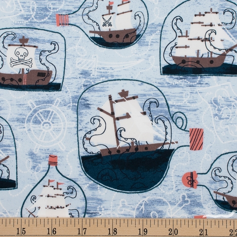 Julia Green for Cotton + Steel, Kraken, Ship In A Bottle Poseidon
