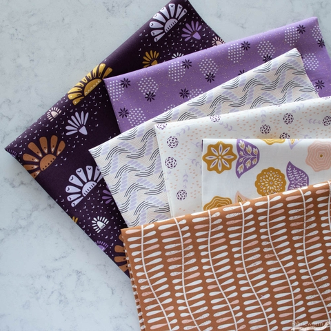 Juliana Tipton for Cotton + Steel, Modern Meadow, Spritely Sprouts Lilac