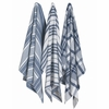 Jumbo Dishtowels Indigo, Set of 3