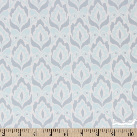Kate Spain for Moda, Bungalow, Tapestry Aqua Grey