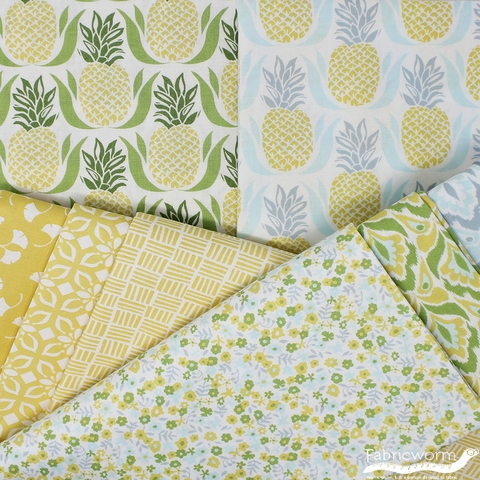 Kate Spain for Moda, Bungalow, Tile Lemon