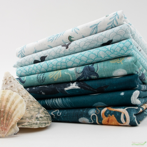 Katherine Quinn for Windham, Whale Tales, Waves Aqua