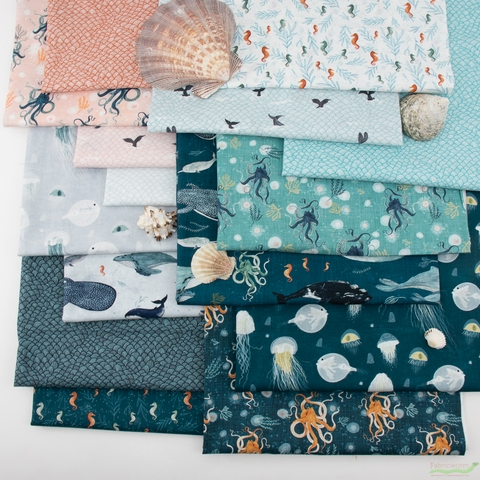 Katherine Quinn for Windham, Whale Tales, Whale Tails Seafoam