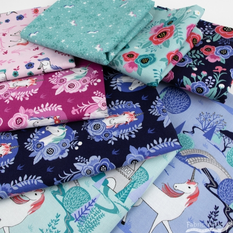 Kelly Panacci for Riley Blake, My Unicorn in FAT QUARTERS 8 Total