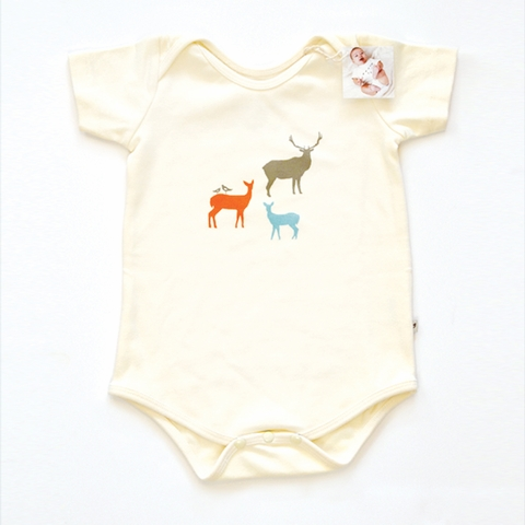 Kinder Birch, Organic Cotton Apparel, Elk Fam Onesie
